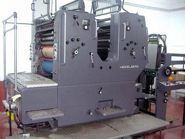 2-красочная печатная машина Heidelberg SORMZ