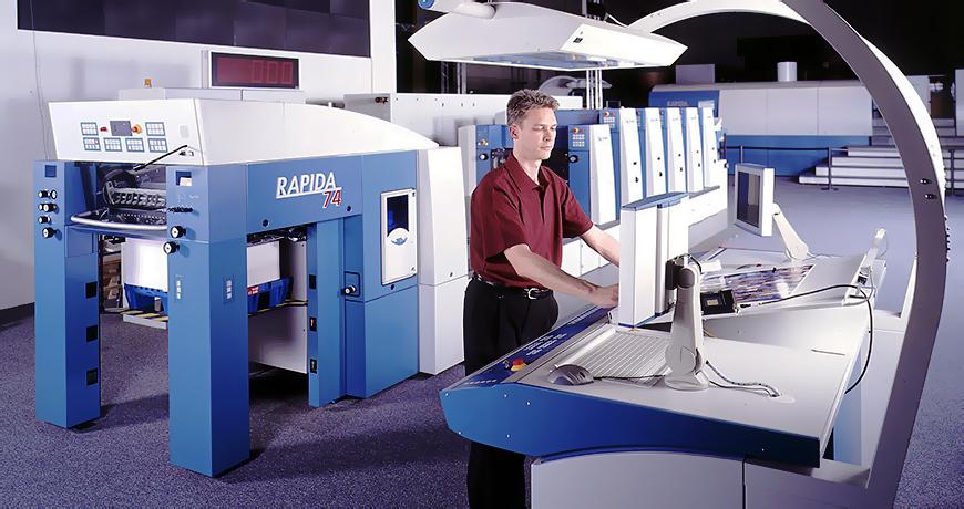 машина с листовой подачей бумаги KBA Rapida 74