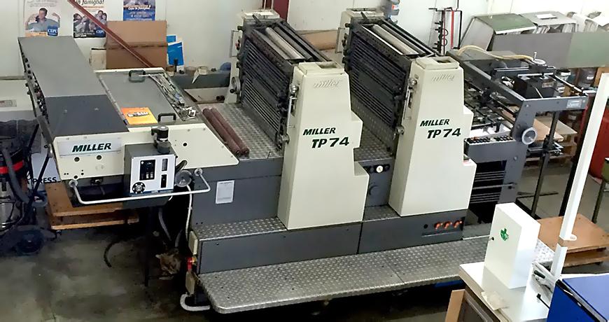листовые печатные офсетные машины серии Miller TP 74