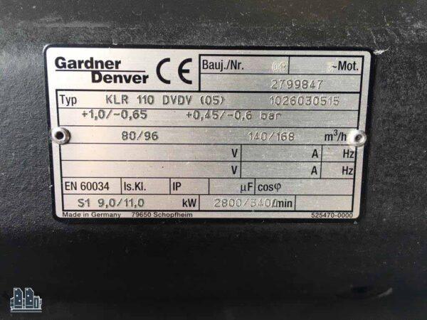 б/у компрессор к Heidelberg - Elmo Rietschle KLR 110 DVDV