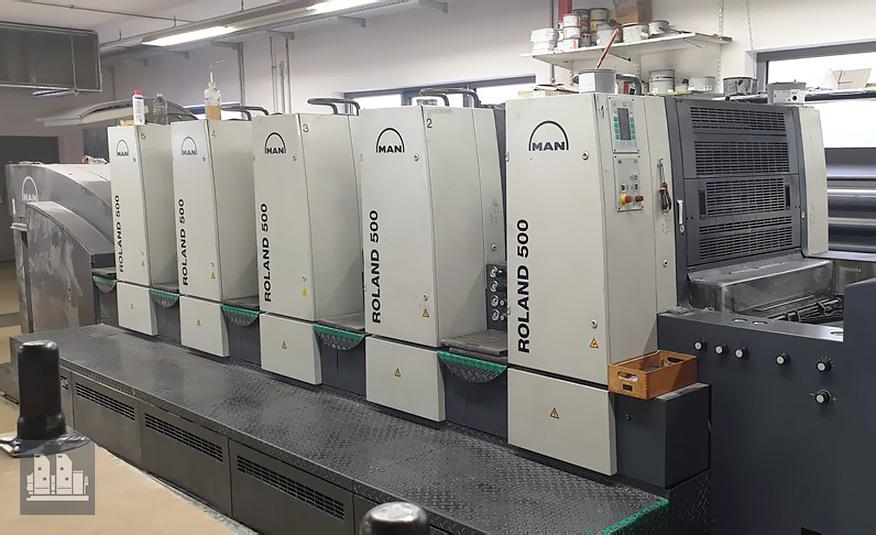 máquina offset de impressão ROLAND R505 0B P (ano 2007)