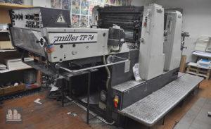 2 красочная офсетная машина Miller TP 74-2 (1983 год)