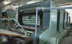 máquina de impresión Planeta P44-5 SV (áno 1983)