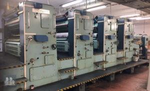 ऑफसेट प्रिंटिंग मशीन Planeta Super Variant P46-3 निर्माण का वर्ष 1989