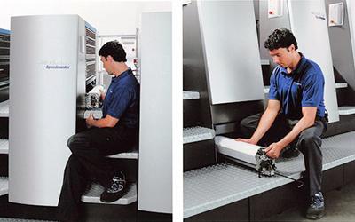 автоматические смывки в Heidelberg CD 74