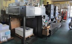 machine d'impression offset 2 couleurs Heidelberg SM 102 ZP (1990)