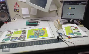 5-रंग प्रिंटिंग मशीन हैडलबर्ग एसएम 74-5 (2001)
