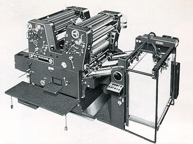 2-красочная машина офсетной печати Heidelberg SORKZ