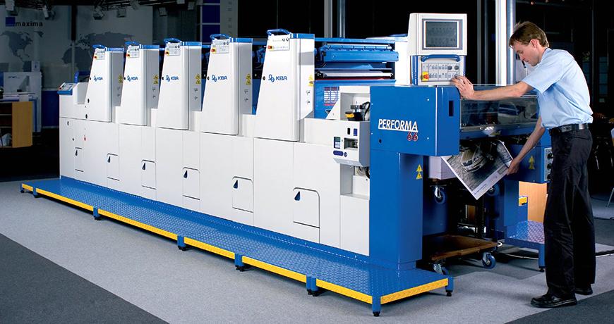 5-красочная машина Performa 66 в типографии Embax Print (Brno)