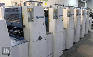 máquina offset de impressão KBA Performa 74-5+L (ano 2007)