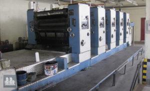 5 renki ofset baskı KBA Rapida 104-5 (üretim tarihi 1993)