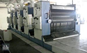 ऑफसेट प्रिंटिंग मशीन KBA Rapida 104-5 (उत्पादन का वर्ष 1993)