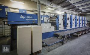 6 reňk basma masyn KBA Rapida 104-6+L IR/UV (1991)