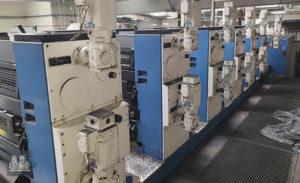 6-түстүү басма машинасы KBA Rapida 104-6-L IR/UV
