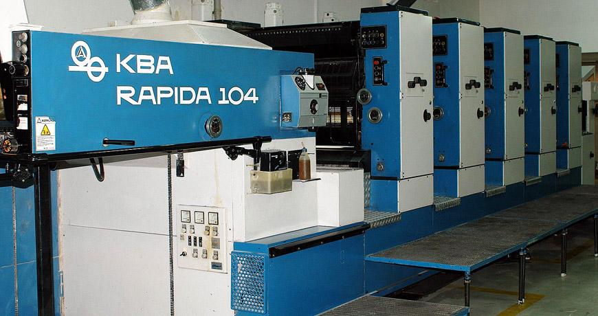 описание и характеристики печатной машины KBA Rapida RA 104