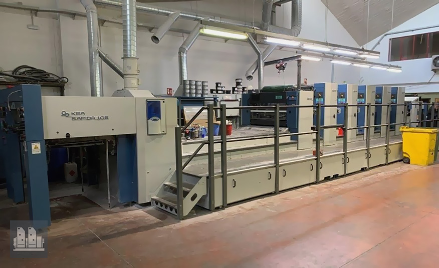 used offset press KBA Rapida 105-5+L ALV Hybrid CX (age 2003)