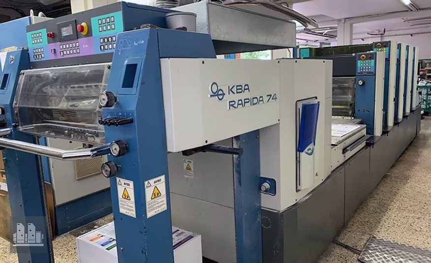 used offset press KBA Rapida 74-4+LX (2001)