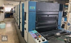 máquina offset de impressão KBA Rapida Ra74-4+L (ano 2001)