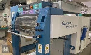 machine d'impression offset KBA-Planeta Rapida 74-4LX (année 2001)