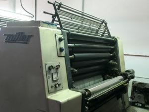красочный аппарат и система увлажнения Miller TP 74